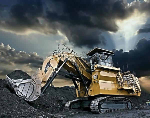 Wall Art - Digital Art - Cat 6030 Heavy Duty Excavator by Daniel Hagerman