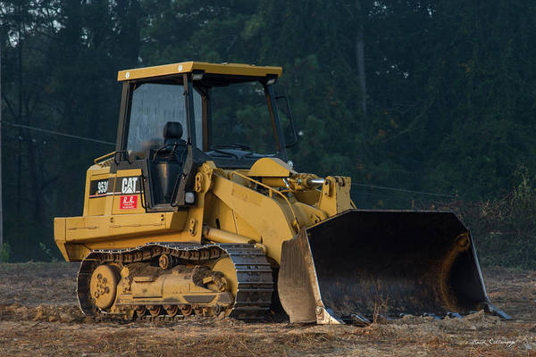 Excavator Photograph - Cat 953c Track Loader Construction Art by Reid Callaway