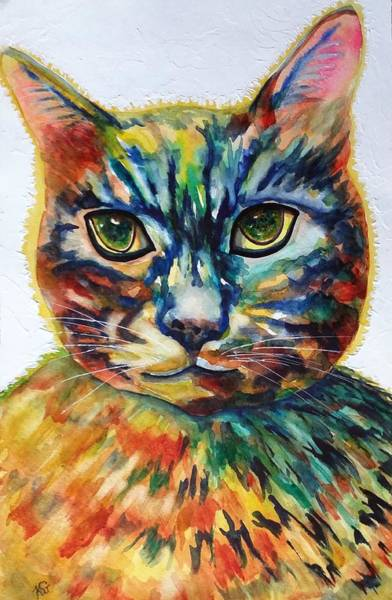 Cat A Tude Art Print