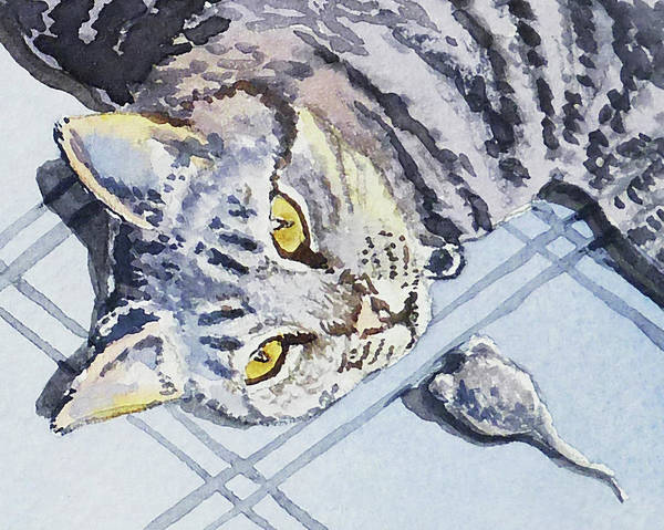 Calico Kitten Wall Art - Painting - Cat Alert  by Irina Sztukowski