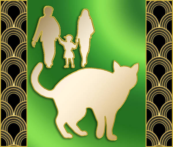 Digital Art - Cat And Family by Chuck Staley