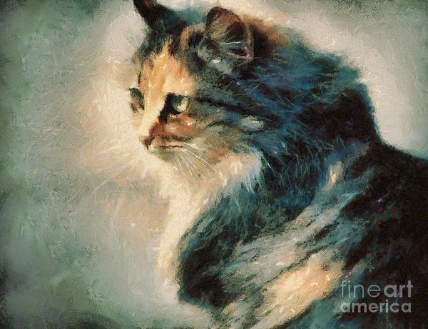 Painting - Cat by Dimitar Hristov