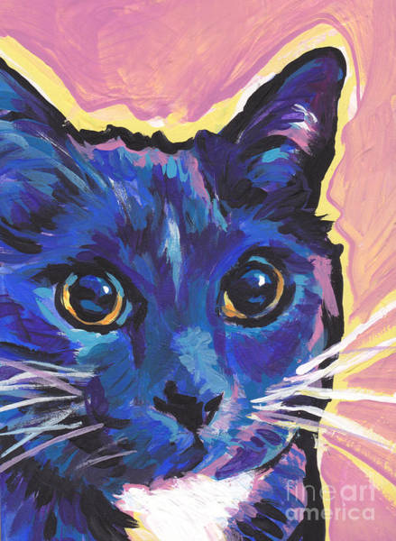 Russian Blue Painting - Cat Eyes by Lea S