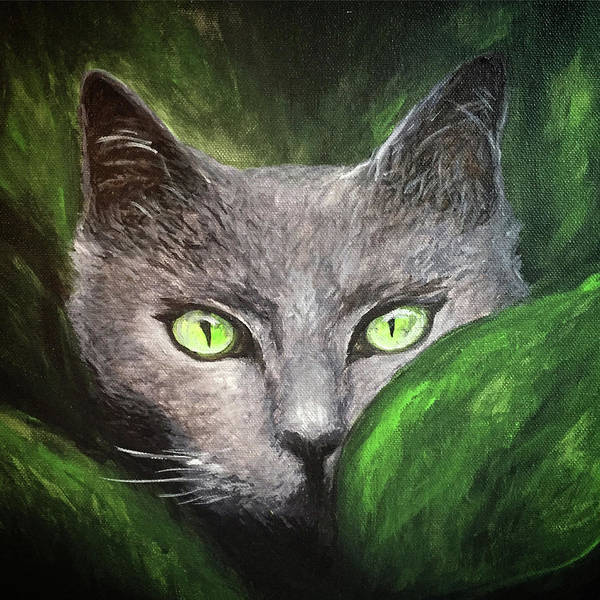 Painting - Cat Eyes by Michelle Pier