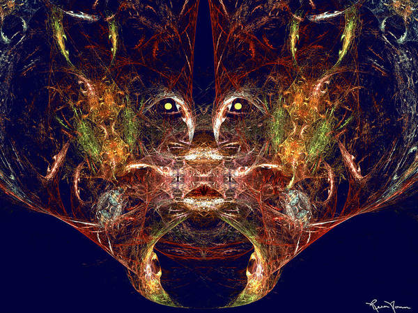 Digital Art - Cat Eyes by Rein Nomm