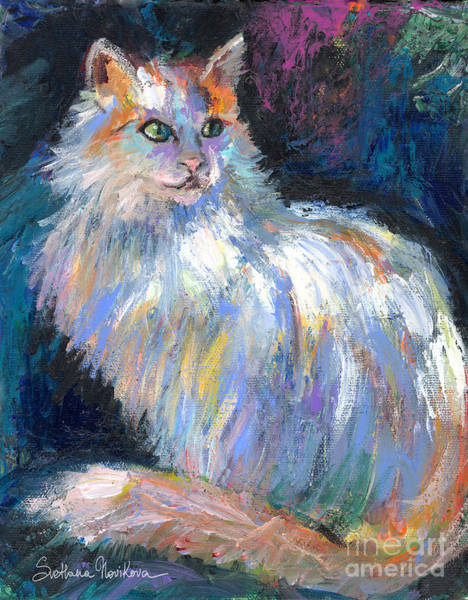 Painting - Cat In A Sun Painting  by Svetlana Novikova