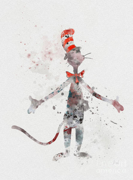 Cat In The Hat Wall Art - Mixed Media - Cat In The Hat by My Inspiration