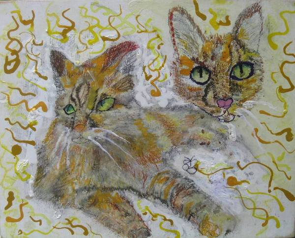 Painting - Cat Named Phoenicia by AJ Brown