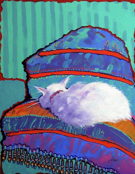 Painting - Cat Nap by Adele Bower