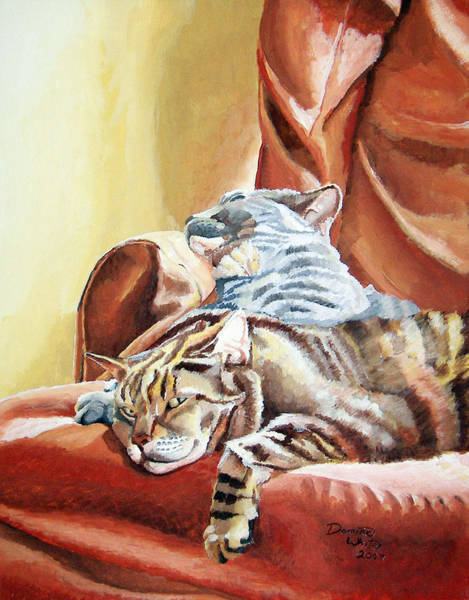 Painting - Cat Nap by Dominic White