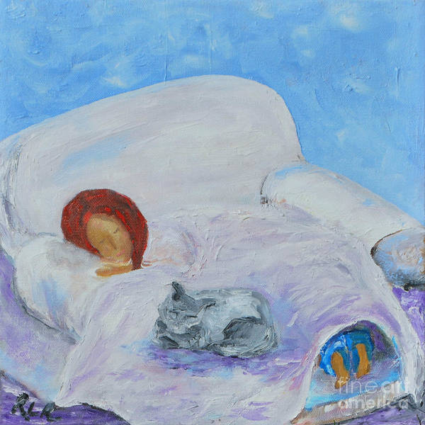 Painting - Cat Nap  by Reina Resto