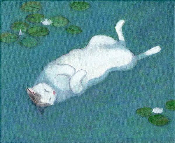 Cat On Vacation Art Print