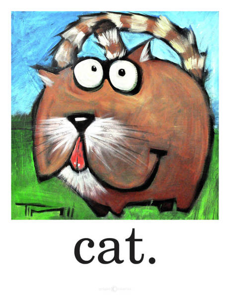 Painting - Cat Poster by Tim Nyberg