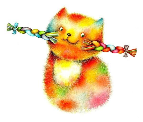 Plaits Painting - Cat by Riina Maido