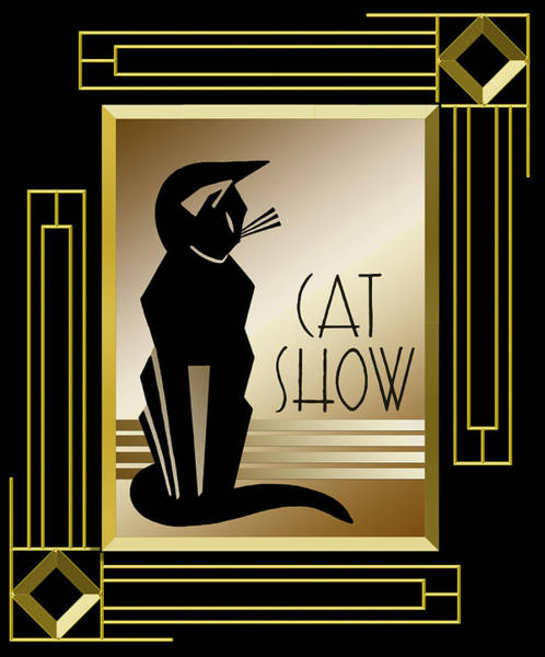 Digital Art - Cat Show - Frame 5 by Chuck Staley