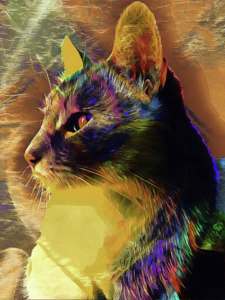 Digital Art - Cat Spirit Guide by Dorothy Berry-Lound