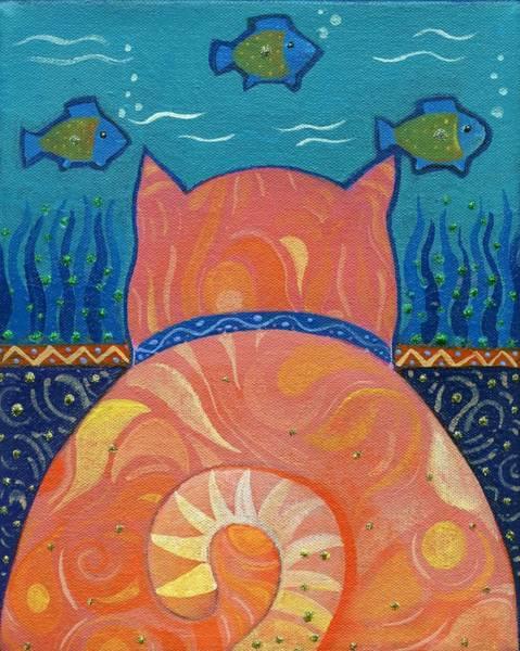 Cat Tales Art Print