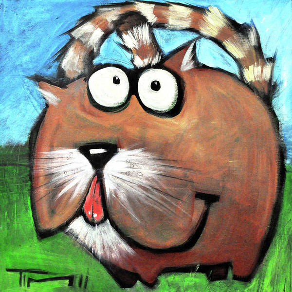 Painting - cat by Tim Nyberg