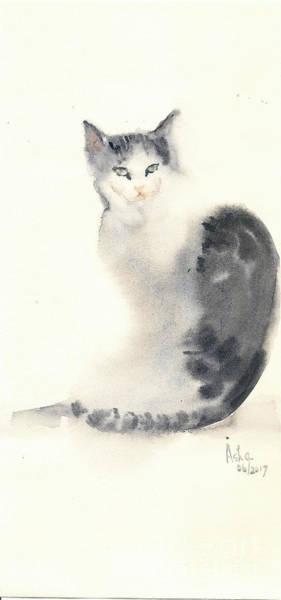 Painting - Cat Turning Back by Asha Sudhaker Shenoy