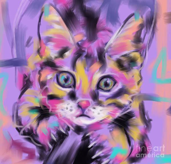 Painting - Cat Wild Thing by Go Van Kampen