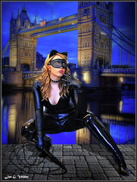 Photograph - Cat Woman In London by Jon Volden
