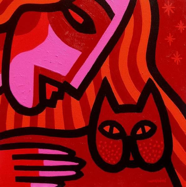 Homage Wall Art - Painting - Cat Woman by John  Nolan