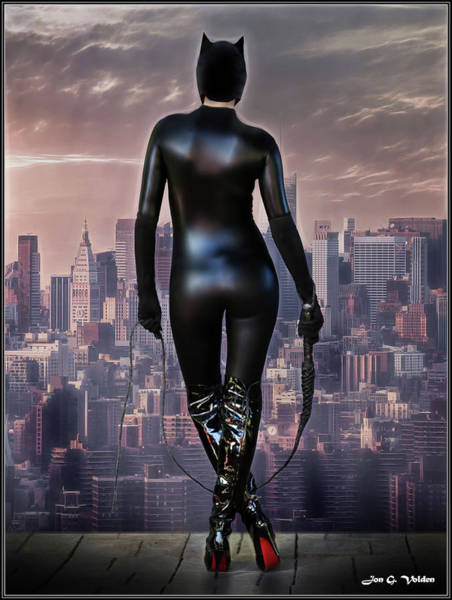 Photograph - Cat Woman On Watch by Jon Volden