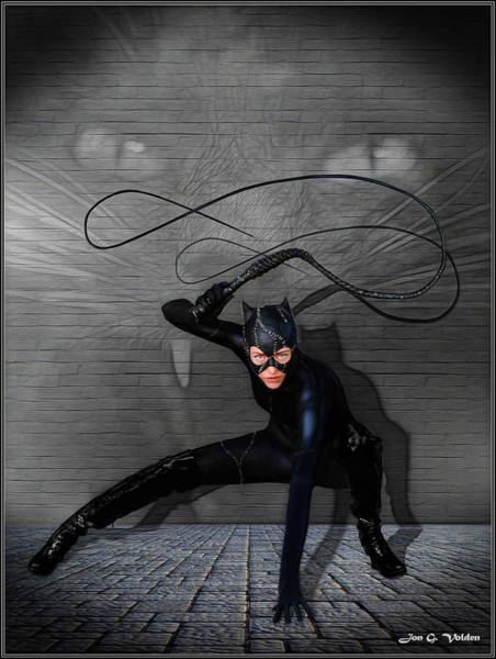 Photograph - Cat Woman Unleashed by Jon Volden