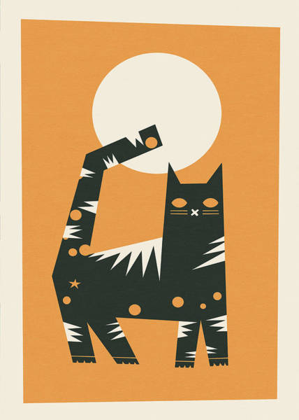 Feline Digital Art - Cat by Yetiland