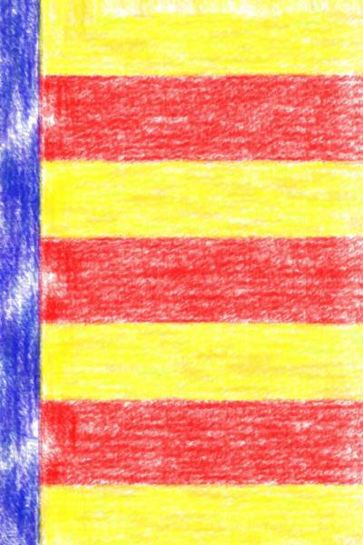 Painting - Catalan Flag Colors V4 by Celestial Images