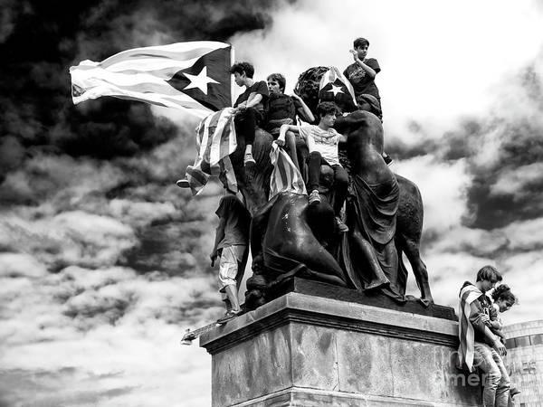 Photograph - Catalan Freedom In Barcelona by John Rizzuto