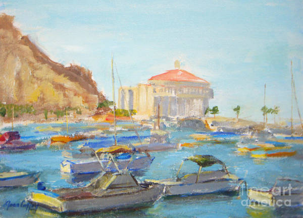 Painting - Catalina Casino In The Light by Joan Coffey