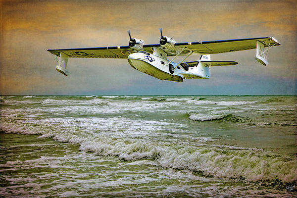 Vintage Plane Photograph - Catalina Flying Boat by Chris Lord
