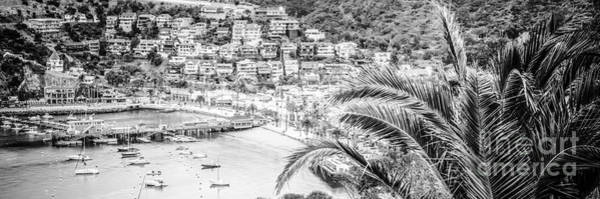 Avalon Wall Art - Photograph - Catalina Island Black And White Panoramic Photo by Paul Velgos