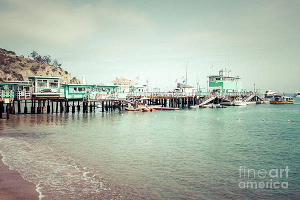 Wall Art - Photograph - Catalina Island Green Pleasure Pier Retro Photo by Paul Velgos