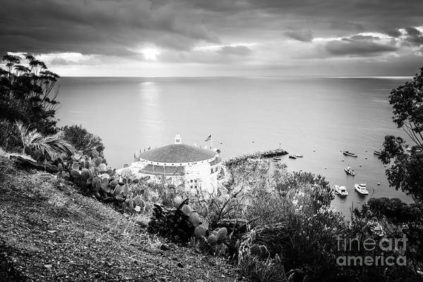 Wall Art - Photograph - Catalina Island Sunrise Black And White Photo by Paul Velgos