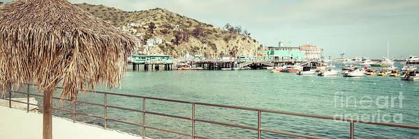 Wall Art - Photograph - Catalina Island Tiki Umbrella Retro Panorama Photo by Paul Velgos