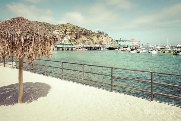Wall Art - Photograph - Catalina Island Tiki Umbrella Retro Photo by Paul Velgos