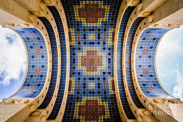 Avalon Wall Art - Photograph - Catalina Island Wrigley Memorial Tiled Ceiling by Paul Velgos