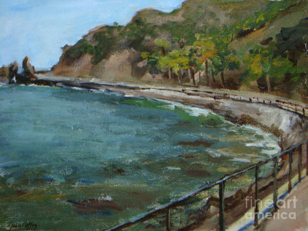 Painting - Catalina Trees At Lovers Cove by Joan Coffey