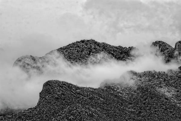 Photograph - Catalinas In Clouds Bw1834 by Mark Myhaver