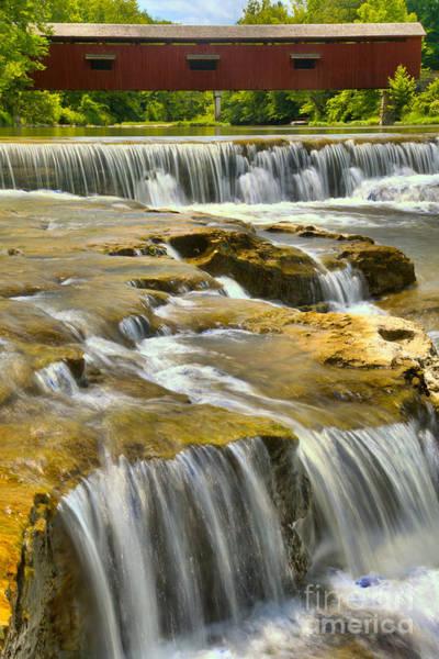 Photograph - Cataract Falls Bridge Portrait by Adam Jewell