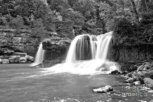 Photograph - Cataract Falls Canyon Black And White by Adam Jewell