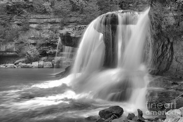 Photograph - Cataract Falls Large Cascades Black And White by Adam Jewell