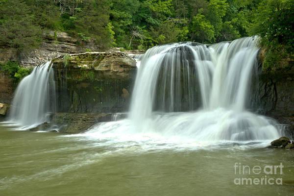 Photograph - Cataract Falls Triple Plunge by Adam Jewell