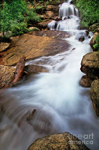 Photograph - Cataract Stream Whitney Portal Eastern Sierras California by Dave Welling