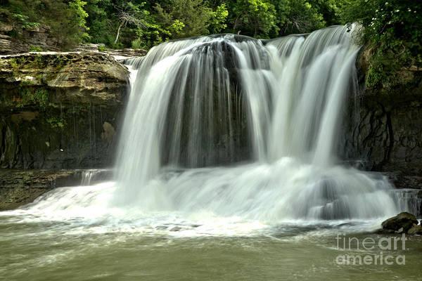 Photograph - Cataract Twin Falls by Adam Jewell