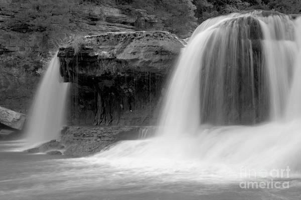 Photograph - Cataract Waterfall Ghosts Black And Whitea by Adam Jewell