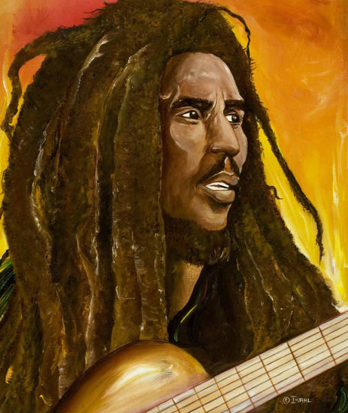 Reggae Wall Art - Painting - Catch A Fire by Ikahl Beckford