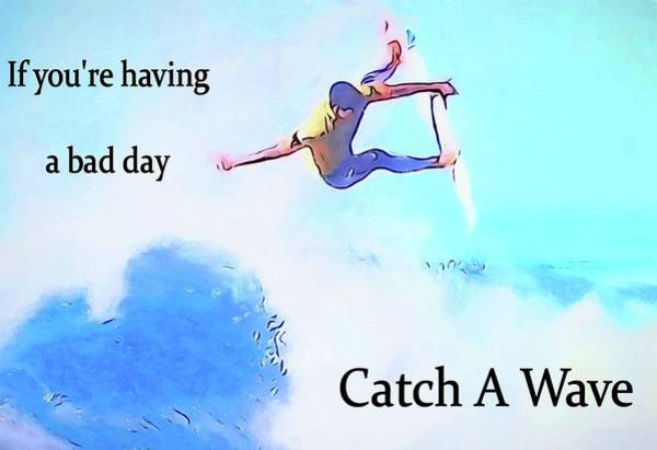 High Jump Painting - Catch A Wave by Dan Sproul